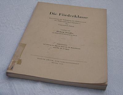 """Die Förderklasse"", Dissertation"